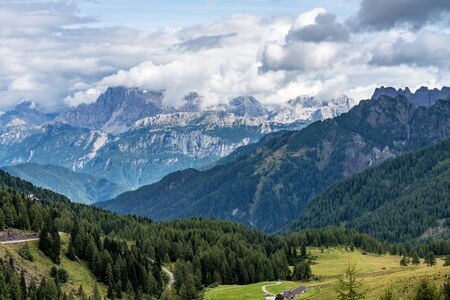 Views of the Val di Fassa, Trento, Trentino Alto Adige in Italy