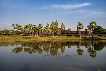Angkor Wat is a temple complex in Cambodia and the largest religious monument in the world. Siem Reap, Cambodia. Stockfoto