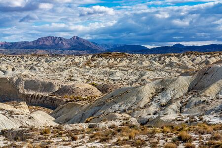 The Badlands of Abanilla and Mahoya near Murcia in Spain is an area where a lunar landscape has been formed by the erosive force of water