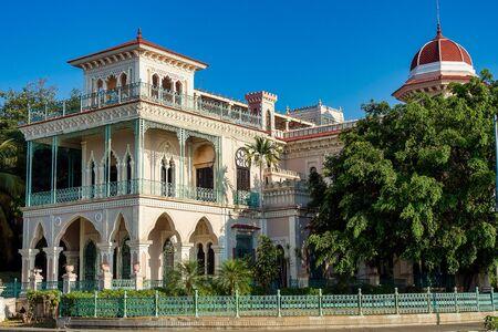 The Palacio de Valle in Punta Gorda, Cienfuegos, Cuba. Palace inspired on far east architecture and important landmark.