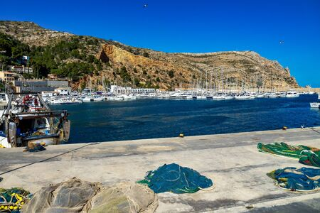 View of Port de Xabia Javea in Spain, Western Europe Banque d'images