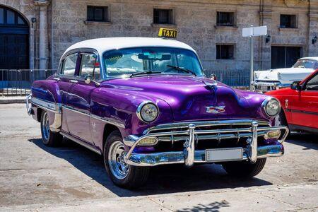 Classic american car on the streets of Havana in the tropical island Cuba. Reklamní fotografie