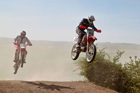 Windsberg, Germany - June 29, 2019 Motocross training in Windsberg Germany Sajtókép