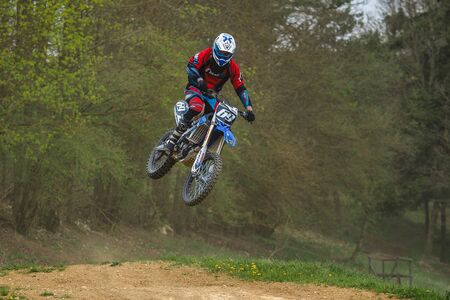 Warching, Germany - June 29, 2019 Motocross training in Warching Germany