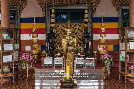 Wat Preah Prom Rath in Siem Reap, Angkor, Cambodia.