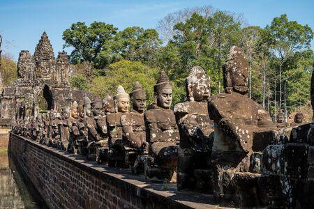 Porta sud di Angkor Thom in Cambogia, Asia