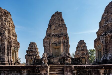 East Mebon temple in the Angkor Wat complex in Siem Reap, Cambodia. 스톡 콘텐츠
