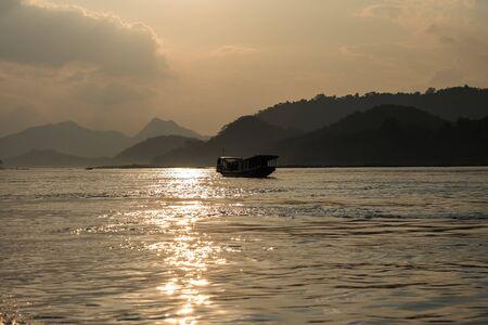 Boat trip on the Mekong River Luang Prabang ,Laos