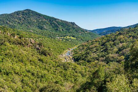 View across the Jimena de la Frontera countryside, Andalusia, Spain