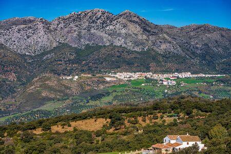 White Andalusian village, pueblo blanco Algatocin. Province of Malaga, Spain