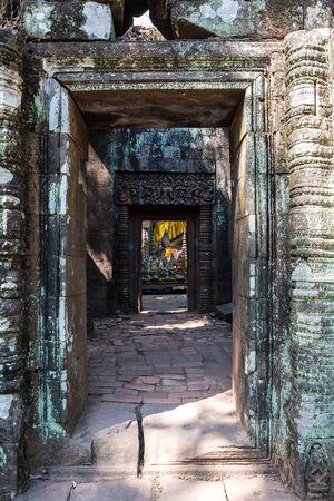 Vat Phou - Wat Phu temple in southern Laos. 스톡 콘텐츠