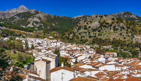 Grazalema, white village in the province of Cadiz, Andalusia, Spain 스톡 콘텐츠