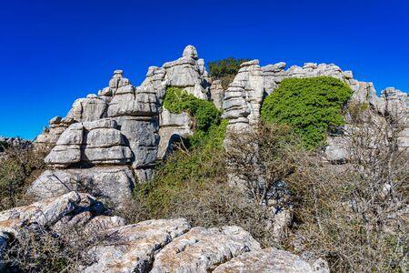 El Torcal de Antequera, Andalusia, Spain, near Antequera, province Malaga.