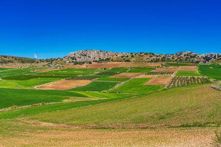 Landscape near Cuevas del Becerro in province Malaga, Andalusia, Spain 스톡 콘텐츠