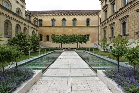 Cabinet Garden of the royal residence in Munich, Germany Stock Photo