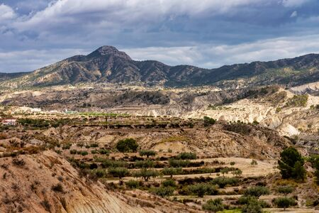 The Badlands of Abanilla and Mahoya near Murcia in Spain