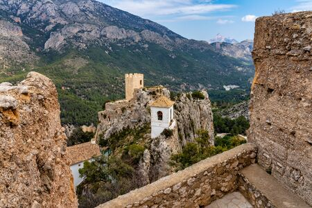 The Town of Guadelest in Spain, Province of Alicante 스톡 콘텐츠 - 131956818