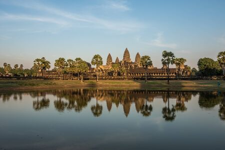 Angkor Wat is a temple complex in Siem Reap, Cambodia. Stockfoto