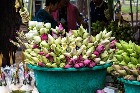 Market in the Royal Independence Gardens in Siem Reap, Cambodia