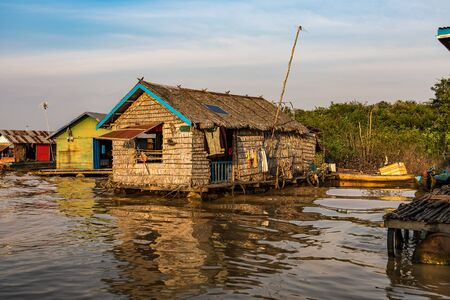 Floating village, Cambodia, Tonle Sap, Koh Rong island. Фото со стока