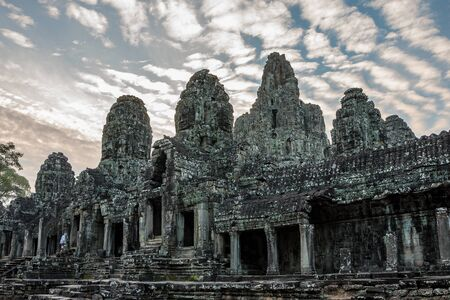 Angkor Wat is a temple complex in Siem Reap, Cambodia. Stockfoto - 131956654