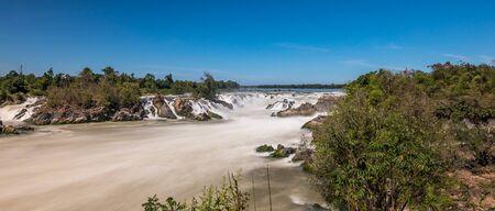 Khone Phapheng Falls on the Mekong River in southern Laos. Reklamní fotografie