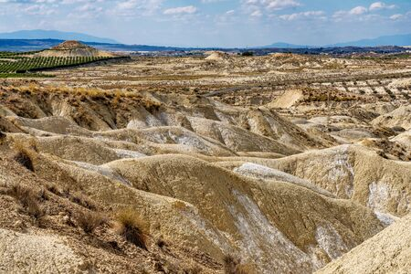The Badlands of Abanilla and Mahoya near Murcia in Spain