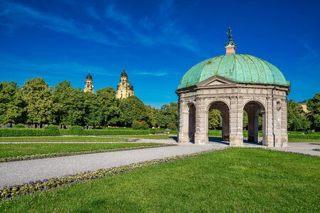 Hofgarten Park with Dianatempel in Munich, Germany