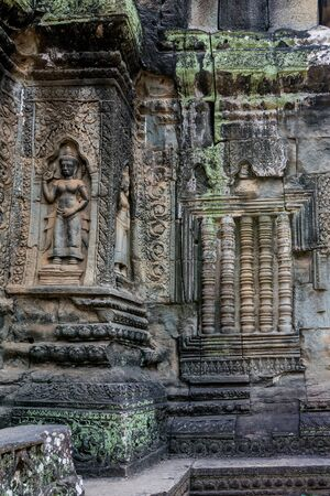 The ancient temple of Ta Prohm , Angkor , Cambodia Stockfoto