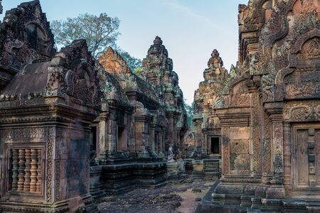 Banteay Srei is a Hindu temple dedicated to Shiva in Angkor, Cambodia