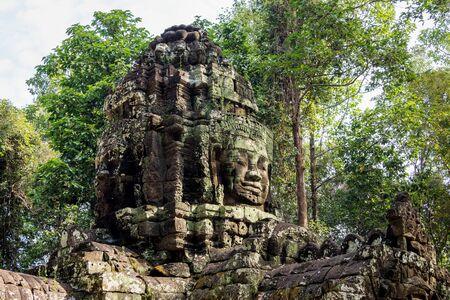 Ta Som temple in Angkor Wat complex, Cambodia, Asia Stockfoto - 132551788