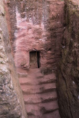 Bete Amanuel, monolitic church in Lalibela, Ethiopia