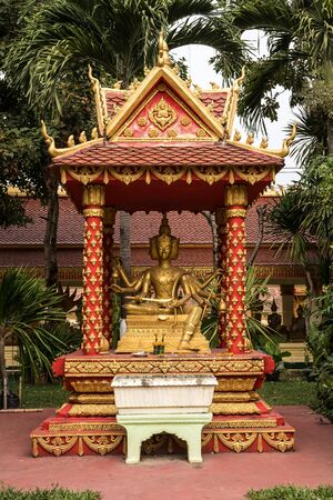 Wat Pha That Luang Temple in Vientiane, Laos