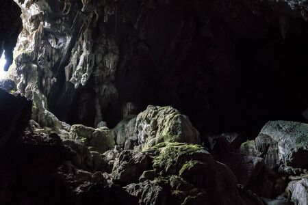 Inside the Pukham or Poukham cave in Vang Vieng, Laos