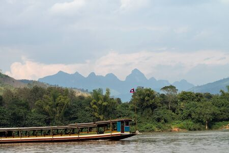 Boat trip on the Mekong River Luang Prabang ,Laos