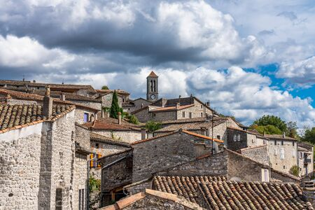 View of the old village of Balazuc in Ardeche in southern France Stockfoto