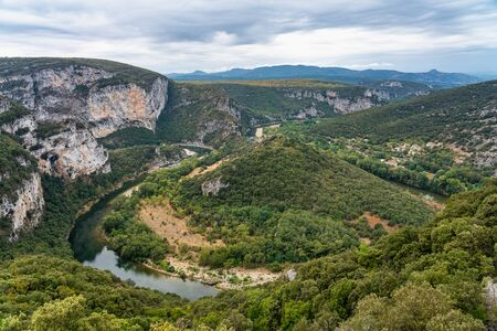River in the beautiful Ardeche gorge in france.