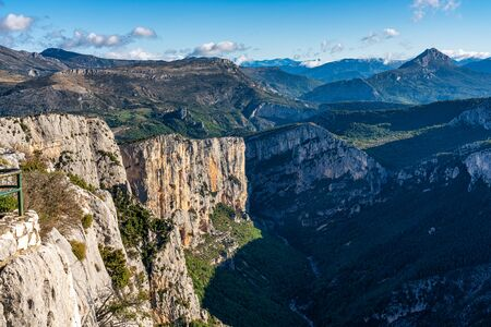 Verdon Gorge, Gorges du Verdon in French Alps, Provence, France