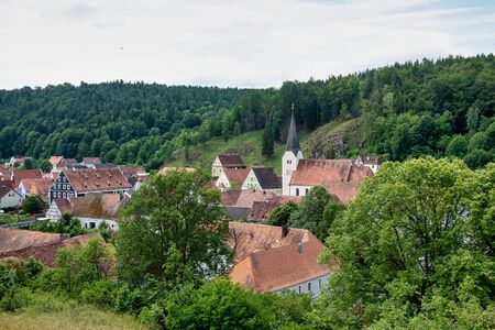 The town of Hohenburg, Upper Palatinate in Bavaria, Germany