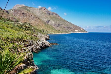 Zingaro Nature Reserve Park near Scopello, Trapani province, Sicily, Italy 写真素材