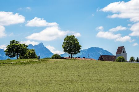Paisaje cerca de la ciudad de Rieden en Baviera, Alemania