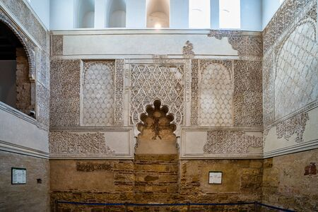 Inside the synagogue of Cordoba, Spain. Jewish temple founded in 1315. Andalusia, Spain