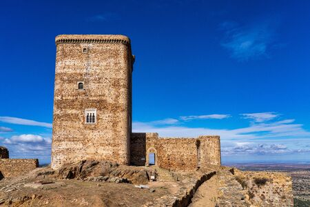 Ancient medieval castle in Feria. Extremadura in Spain.