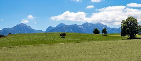 Paisaje cerca de la ciudad de Rieden en Baviera, Alemania Foto de archivo