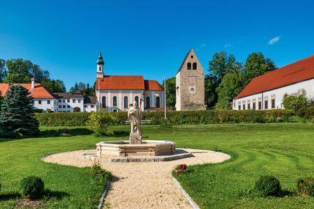 Wessobrunn Abbey, a Benedictine monastery near Weilheim in Bavaria, Germany