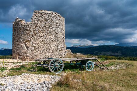 The mills of La Mure, Les Moulins de La Mure at Vassieux en Vercors, France