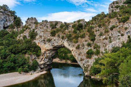Pont DArc, rock arch over the Ardeche River in France