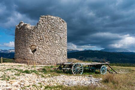 The mills of La Mure, Les Moulins du hameau de La Mure at Vassieux en Vercors, France in Europe