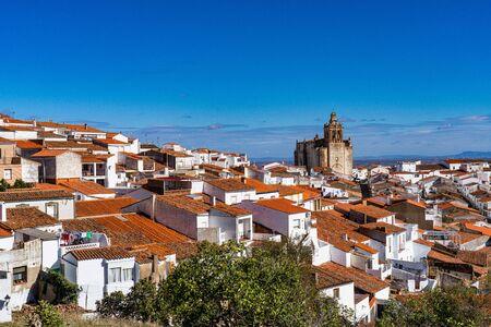 Church of San Bartolome in Feria. Extremadura in Spain. Stock Photo