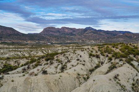 The Badlands of Abanilla and Mahoya in the Murcia region in Spain Stock Photo